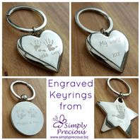 Personalised Chrome Keyrings